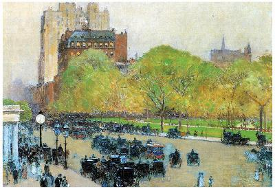 Childe Hassam Spring Morning in the Heart of the City Art Print Poster