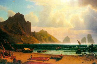 Albert Bierstadt Marina Piccola Capri Art Print Poster