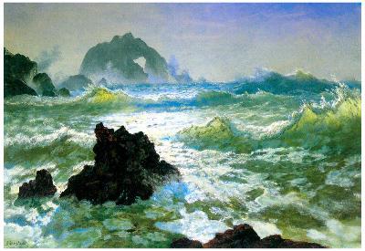 Albert Bierstadt Seal Rock 2 Art Print Poster
