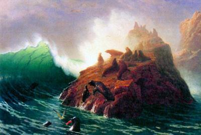 Albert Bierstadt Seal Rock California Art Print Poster