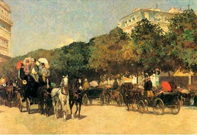 Childe Hassam The Day of the Grand Prize 2 Art Print Poster