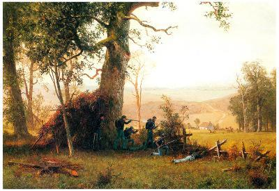 Albert Bierstadt Small War Postal Service Strike in Virginia Art Print Poster