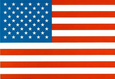 American Flag Art Print Poster