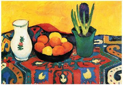 August Macke Still Life with Hyacinthe Art Print Poster