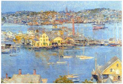 Childe Hassam The Port of Gloucester Art Print Poster