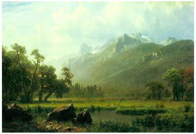 Albert Bierstadt The Sierra Near Lake Tahoe California Art Print Poster