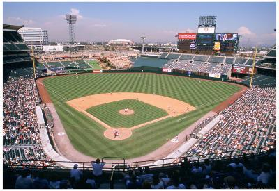 Angel Stadium Anaheim Color Archival Photo Sports Poster