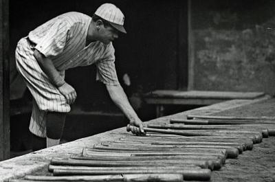 Babe Ruth Bats Archival Photo Poster Print