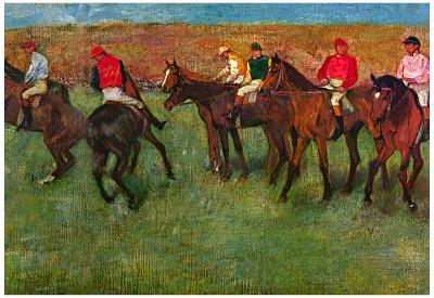 Edgar Germain Hilaire Degas (Horse race before the start) Art Poster Print