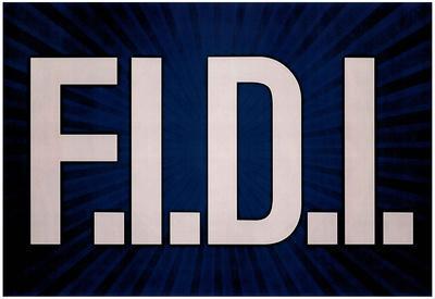 F.I.D.I. F*ck It Do It Blue Poster