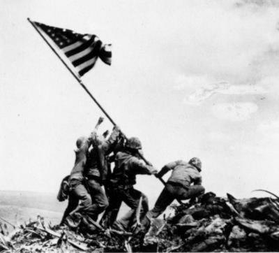 Flag Raising on Iwo Jima (February 23, 1945) Art Poster Print
