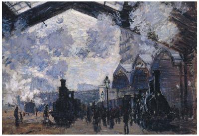 Claude Monet The Gare St-Lazare Art Print Poster