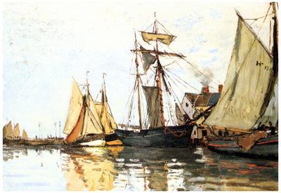 Claude Monet The Honfleur Port Art Print Poster