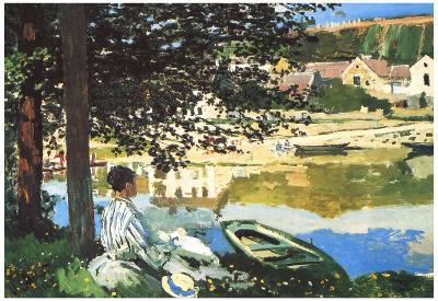 Claude Monet The River at Bennecourt Art Print Poster