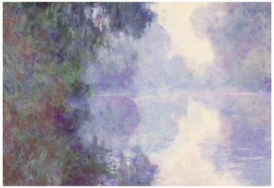 Claude Monet The Seine at Giverny Morning Mist Art Print Poster
