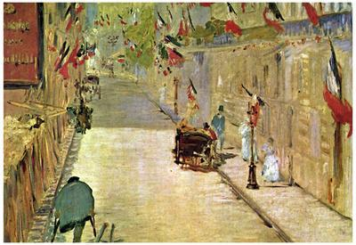 Edouard Manet Rue Mosnier with Flags Art Print Poster