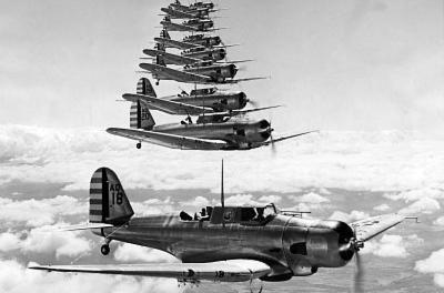 Dauntless Divebomber 17th Attack Group 1939 Archival Photo Poster Print