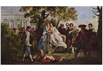 Francis Hayman - A Scene from Shakespeare's As You Like It, Art Poster Print