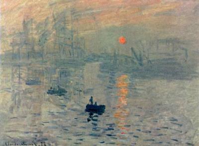 Claude Monet (Impression, Sunrise) Art Poster Print