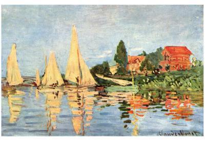 Claude Monet (Rigatta at Argenteuil) Art Poster Print