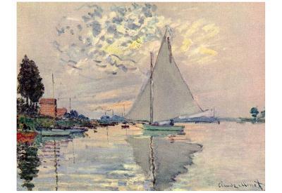 Claude Monet (Sailboat at Le-Petit-Gennevilliers) Art Poster Print