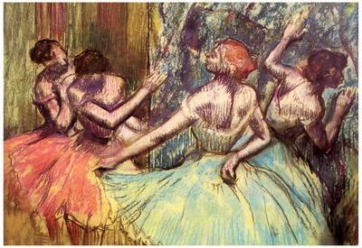 Edgar Degas Four Dancers Behind the Scenes 2 Art Print Poster