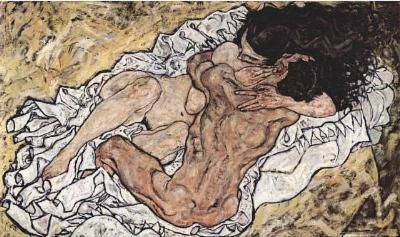 Egon Schiele (The Embrace (The Lovers)) Art Poster Print