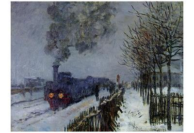 Claude Monet (Train in the Snow) Art Poster Print