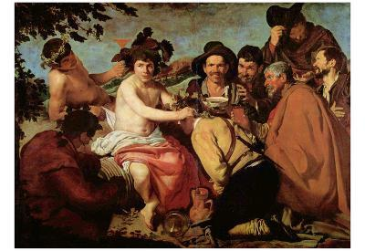 Diego Velázquez (The Drinker (The Triumph of Bacchus)) Art Poster Print