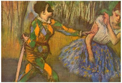 Edgar Degas Harlequin and Columbine Art Print Poster