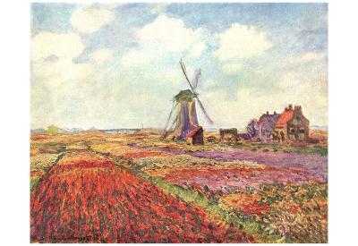 Claude Monet (Tulips in Holland) Art Poster Print