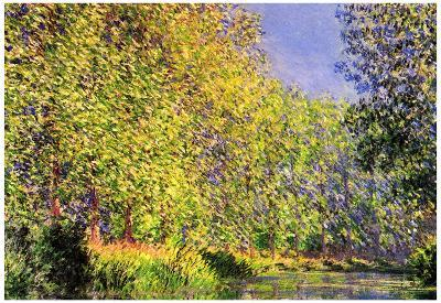 Claude Monet A Bend of the Epte Giverny Art Print Poster