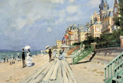 Claude Monet Beach at Trouville Art Print Poster