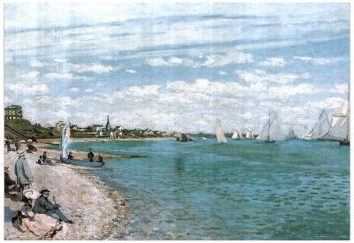 Claude Monet Beach Of Sainte Adresse Art Print POSTER