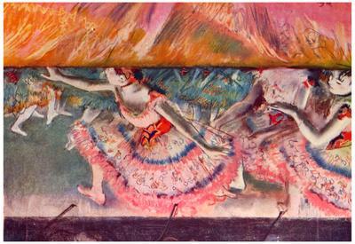 Edgar Degas The Curtain Falls Art Print Poster