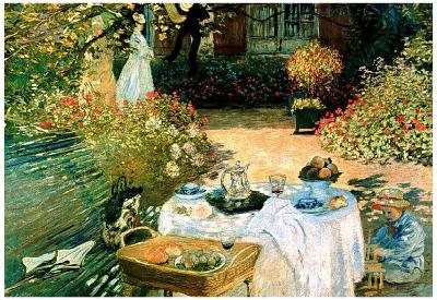 Claude Monet Breakfast Art Print Poster