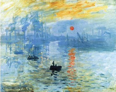 Claude Monet Impression Sunrise 1872 Art Poster Print