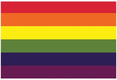 Gay Pride Rainbow Flag Print Poster