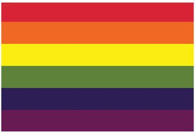 Gay Pride Rainbow Flag Print Poster