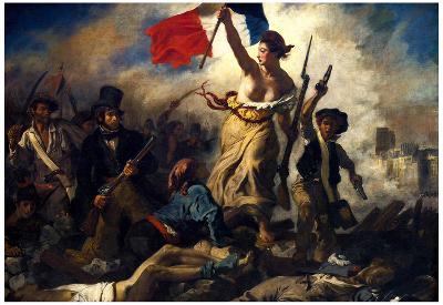 Eugene Ferdinand Victor Delacroix (Liberty Leading the People) Art Poster Print