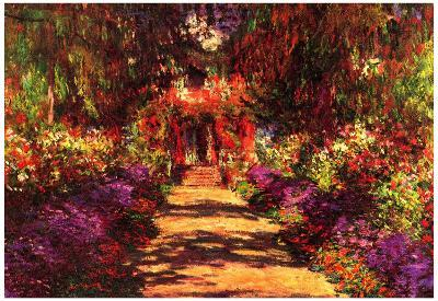 Claude Monet Path in Monet's Garden in Giverny Art Print Poster