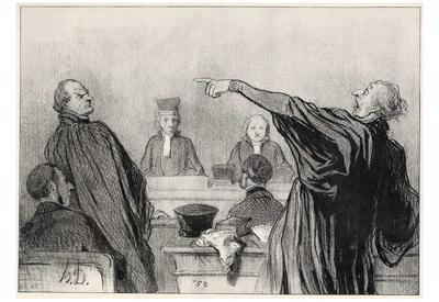 Honoré Daumier (The opposing lawyers) Art Poster Print