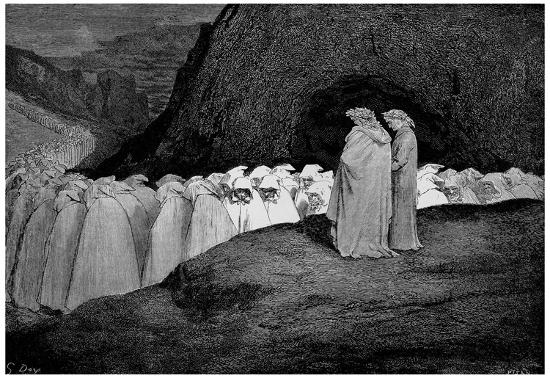 Gustave Dore Illustration To Dante S Divine Comedy Inferno Hypocrasy Art Poster Print