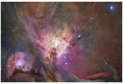 Hubble's Sharpest View of the Orion Nebula Space Photo Art Poster Print