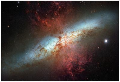 Happy Sweet Sixteen Hubble Telescope Starburst Galaxy M82 Space Photo Art Poster Print