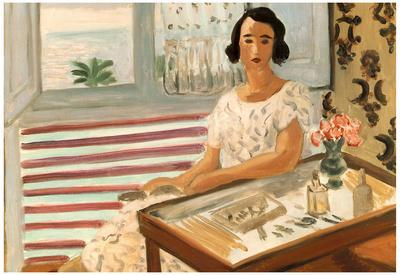 Henri Matisse Femme Assise A Sa Coiffeuse Art Print Poster