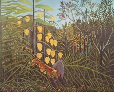 Henri Rousseau (Battle between Tiger and Buffalo) Art Poster Print