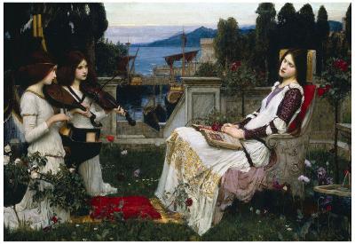 John William Waterhouse Saint Cecilia Art Print Poster