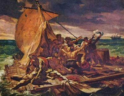 Jean Louis Theodore Gericault (The Raft of the Medusa (study)) Art Poster Print