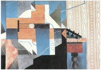 Juan Gris Guitar on a Table Cubism Art Print Poster